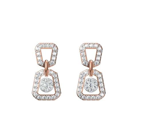 Diamond Earring TCW 0.742 14K gold 4.5 gm