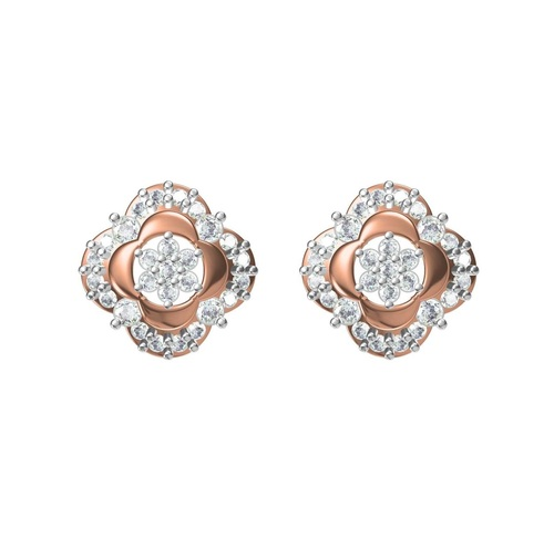 Diamond Earring TCW 0.788 14K gold 4.6 gm