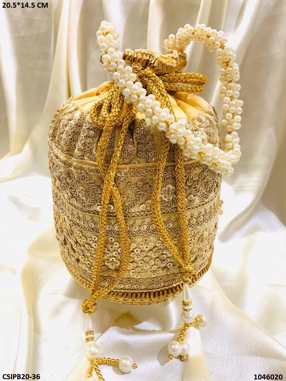 Traditional Embroidered Potli Bag