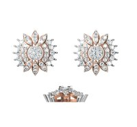 Diamond Earring TCW 1.062 14K gold 4.2 gm