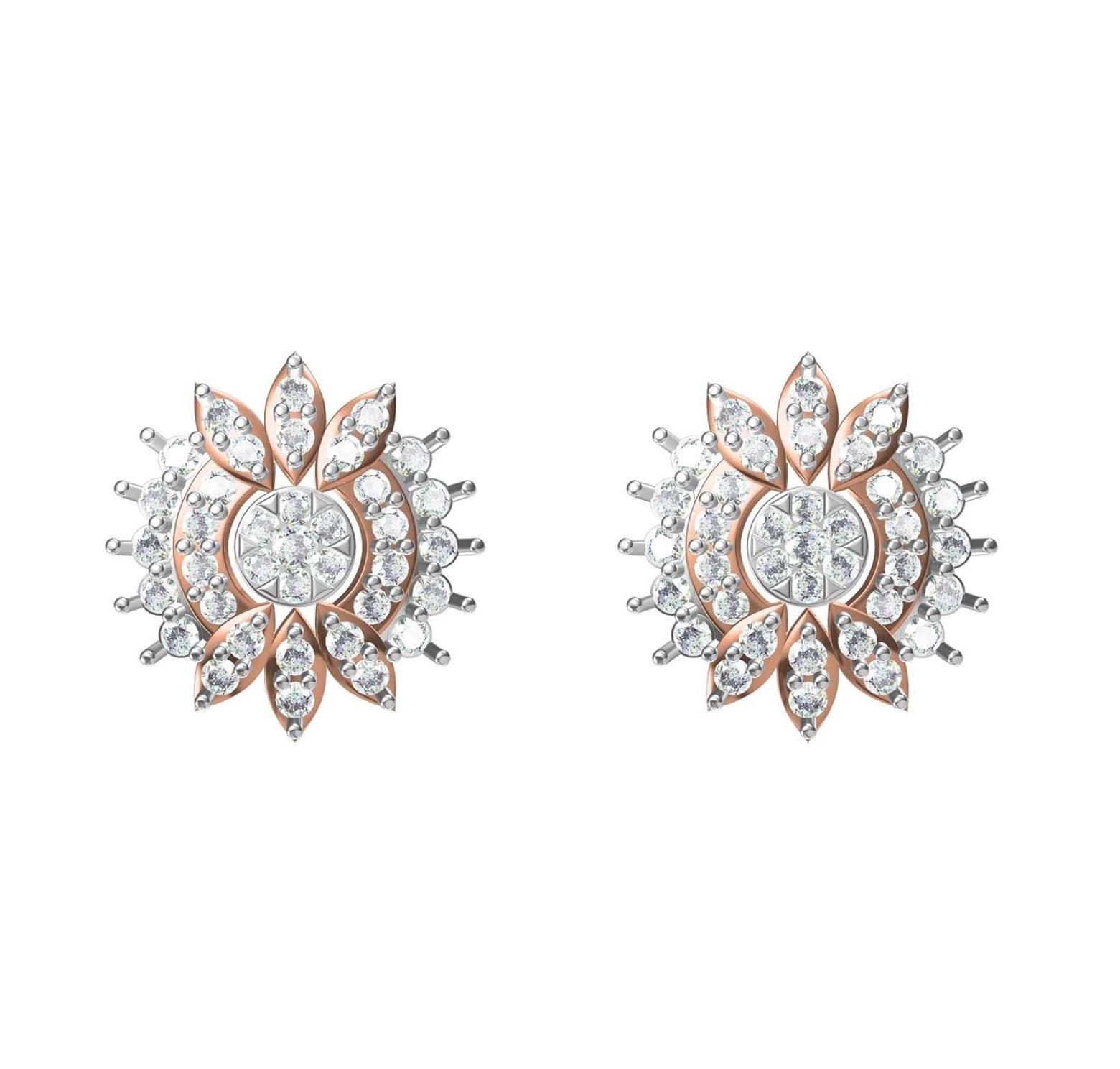 Diamond Earring TCW 1.062 14K gold 4.2 gm