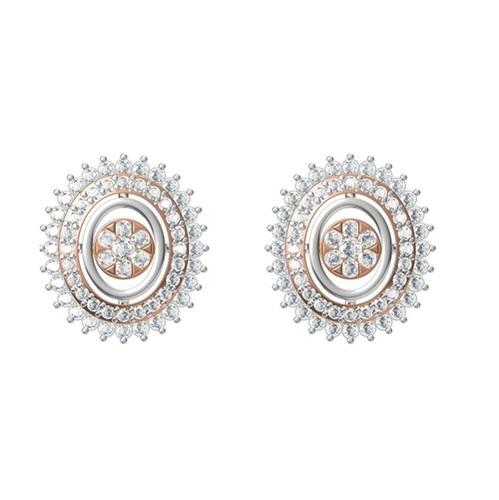 Diamond Earring TCW 0.890 14K gold 3.1 gm