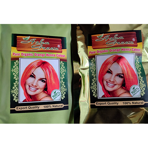 Pure Organic Orange Henna Colour