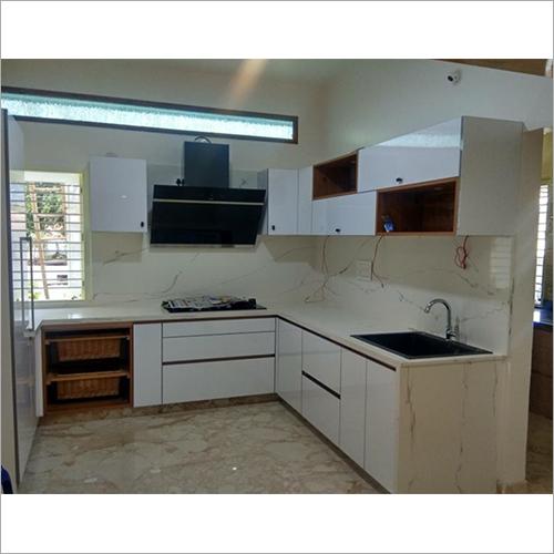 Wooden L Shape Royal Modular Kitchen