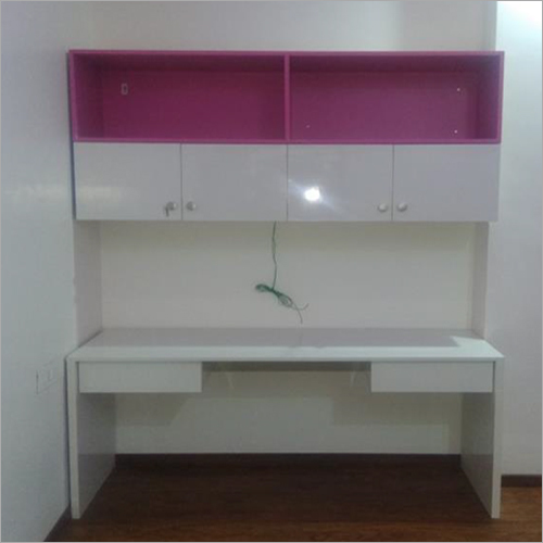 Wooden Table and Cabinet