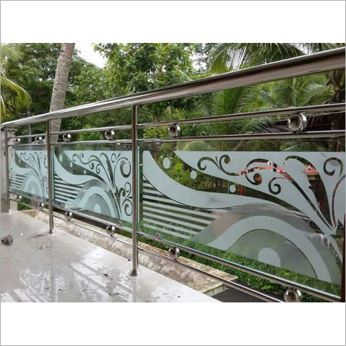 Steel Balcony Glass Railing