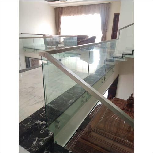 Steel Glass Office Railing