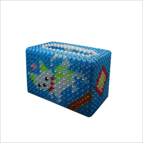 Acrylic Bead Tissue Box
