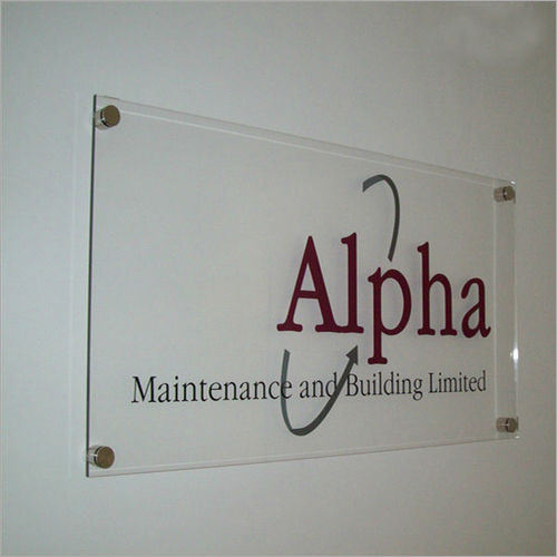 Transparent Acrylic Name Board