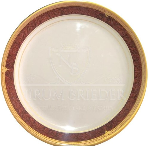 Round Gold Dinner Plate