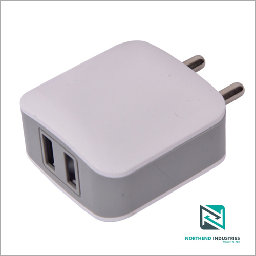 5v 2 Amp Dual USB Port White Mobile Charger