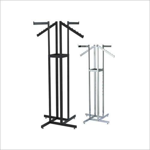 Four Way Cloth Display Hanger Stand
