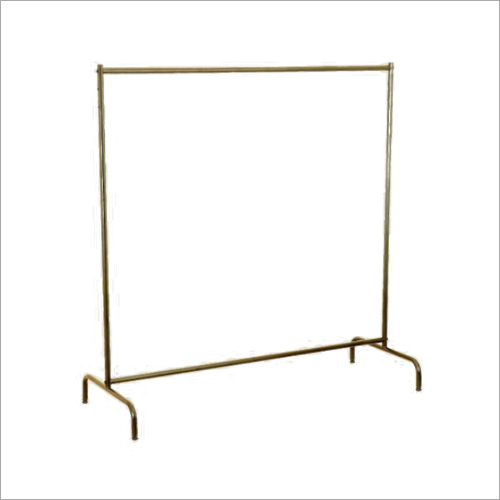 Single Pole Horizontal Portable Clothes Rack Stand