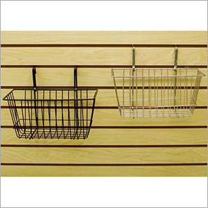 Metal Slatwall Hanging Basket