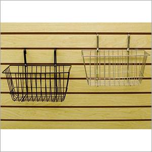Metal Slatwall Hanging Basket