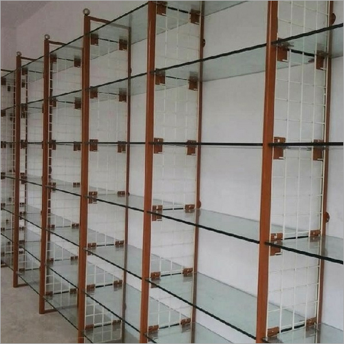 Metal and Glass Display Rack