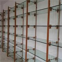 Metal and Glass Display Rack