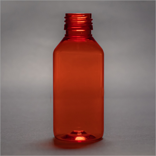 100 ml Red Round Pharmaceutical PET Bottle