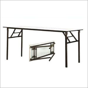 Wooden Top And Iron Folding Table