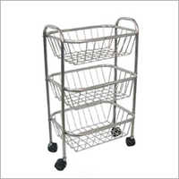 SS Fruit Trolley Basket