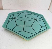 Hexagon full dinner plate