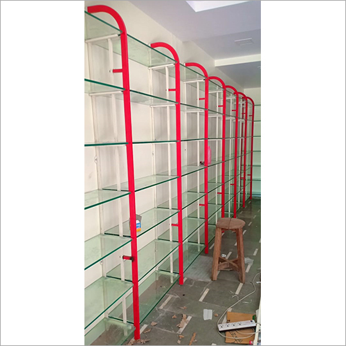 MS Double Pipe Glass Rack