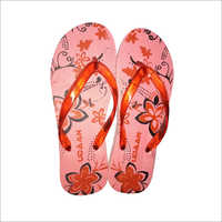 Ladies Floral Printed Hawai Slippers