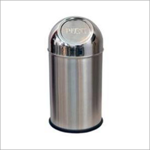Stainless Steel Push Can Dustbin