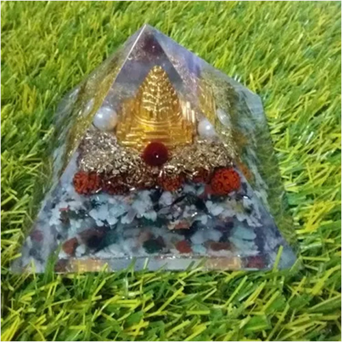 NEW ORGONE SHREE YANTRA MERU WITH MULTI STONE PYRAMID