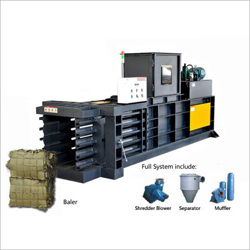 Horizontal Waste Baler Machine
