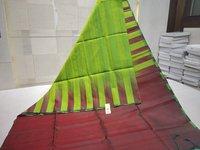 Pure Silk Handloom Dupion Silk Saree Plain