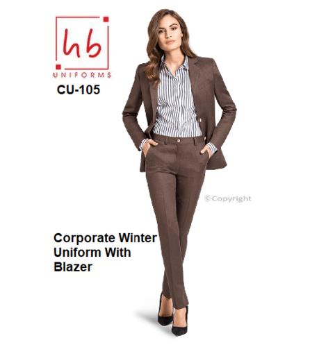 Corporate Winter Uniform With Blazer