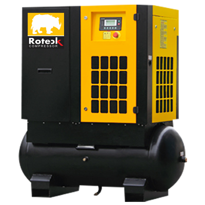 Tank Mounted Screw Air Compressor