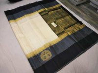 Pure Kanchipuram Silk Sarees Double Color Border