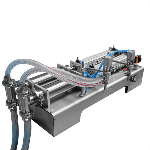 Pneumatic Horizontal Semi-Automatic Bottle Liquid Filling Machine