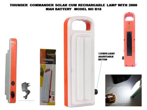solar cum rechargeable led lamp