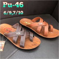 Mens PU Leather Slipper