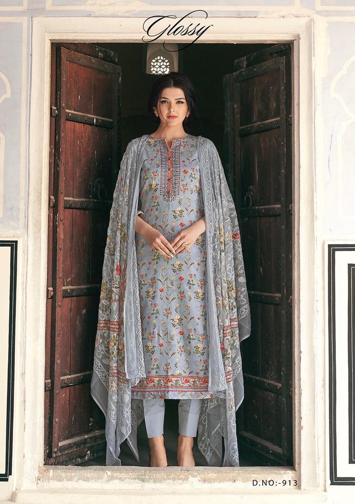 Glossy Cotton Dress