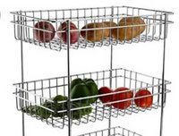Stainless steel Vegetables and Fruits Trolley for Kitchen
