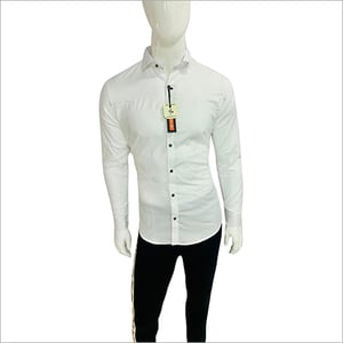Mens Plain White Shirts