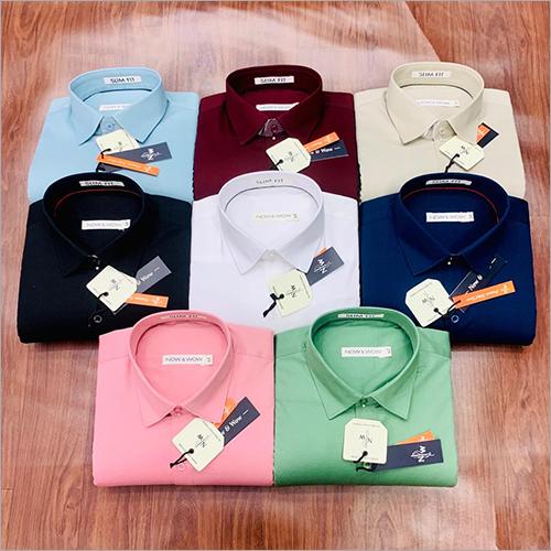 Mens Plain Cotton Lycra Shirts