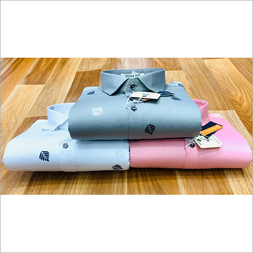 Cotton Slim Fit Plain Shirts