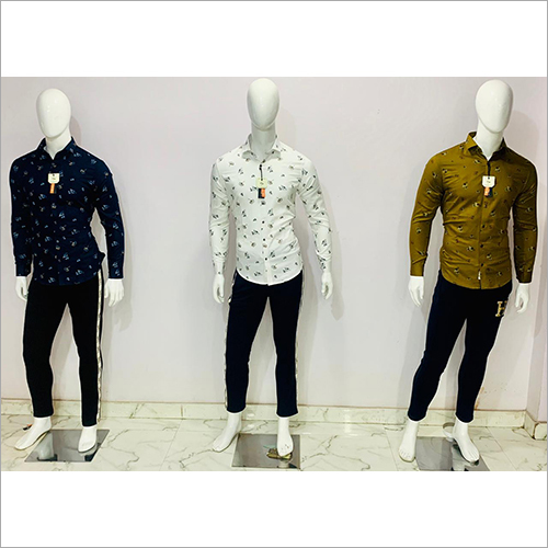 Mens Casual Wear Floral Printed Shirt