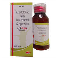 60 ml Aceclofenac With Paracetamol Suspension