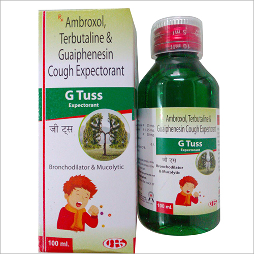 100 ml Ambroxol Terbutaline And Guaiphenesin Cough Expectorant Syrup