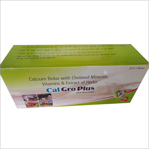 Calcium Bolus With Chelated Minerals Vitamins and Extract Of Herbs