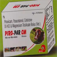 Piroxicam Paracetamol Cetrizine Di HCI and Magnesium Trisilicate Bolus