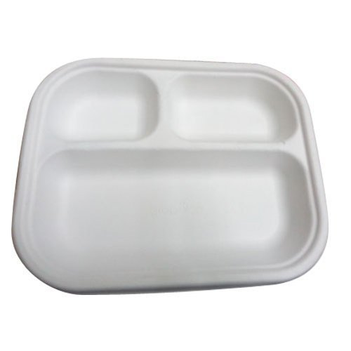 10 Inch 3 CP Round Bagasse Plate