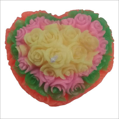 Decorative Flower Wax Candle