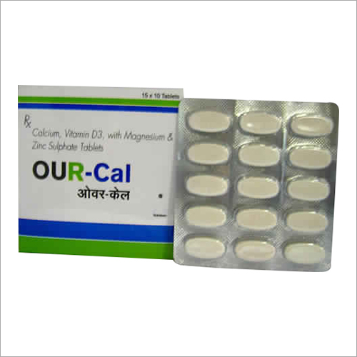 Calcium, Vitamin D3 With magnesium And Zinc Sulpahate Tablets